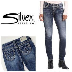 Silver Suki Straight Leg Jeans👖